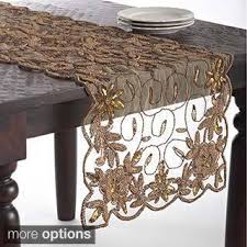furniture runners. french knot design table topper or runner furniture runners