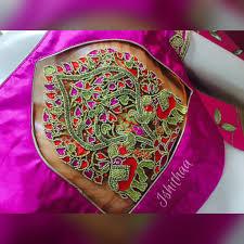 Aari Design Book Gorgeous Designer Blouse With Pair Of Elephant Design Thread
