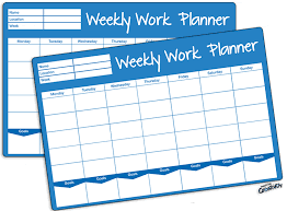 Printable Weekly Work Plan Template Fellowes