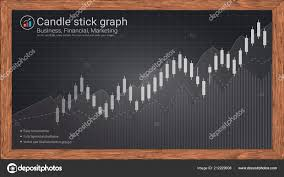 Investment Style Chart Candlestick Patterns Blackboard Style Financial Chart