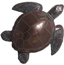 28 h bronze finish sea turtle wall decor