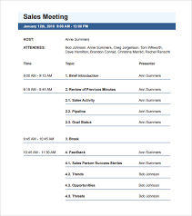 Format Meeting Agenda - Kleo.beachfix.co