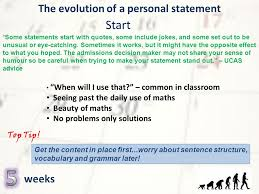 Personal Statement Tip Personal Statement Ucas Deadline December Ive Got Ages Personal
