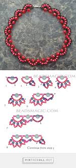 Beaded Necklace Patterns Impressive Free Pattern For Beaded Necklace Rosana Beads Magic Seed Bead