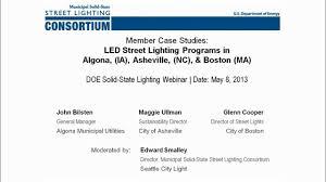Doe Street Lighting Member Case Studies Led Street Lighting Programs In Algona