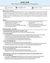 Restaurant Resume Example Kitchen Food Industry