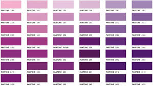 Shades Of Purple Names Chart Download This Color Chart