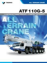 Tadano Atf 110g 5 Load Chart All Terrain Cranes Tadano Specifications Cranemarket