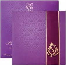 hindu wedding invitations hindu wedding cards shubhankar Wedding Invitation Ganesh Pictures purple with ganesh square card Ganesh Invitation Blank