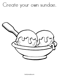 Small Picture Create Your Own Sundae Coloring Page Twisty Noodle Coloring