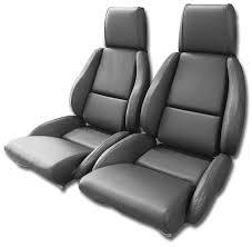 c4 corvette 1984 1996 driver black leather seat covers pair mounted optional corvette mods