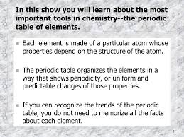 1 The Periodic Table and Trends of the Elements By Diane Lunaburg ...