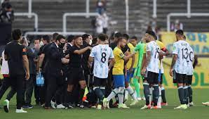 Brezilya-Arjantin maçı yarıda kaldı