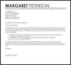 Welding Inspector Cover Letter Sample Cover Letter Templates
