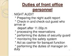 introduction to front office      duties of front office