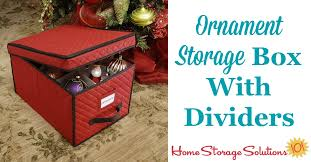 Christmas Decorations Storage Box Ornament Storage Box With Dividers For Large Decorations 50