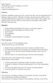 Social Work Resume Templates Worker Essential Representation