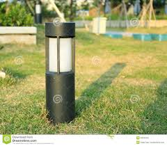 garden lamp. Lawn Lamp Outdoor Light Garden Landscape Lighting Stock Photography
