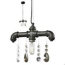 industrial look lighting fixtures. Industrial Water Pipe And Crystal Pendant Lighting 7409 Look Fixtures