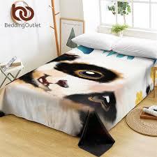 bedding panda bed sheets watercolor printed flat sheet for teens kids wildlife animal bed linen s