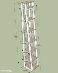Diy Leiterregal Aus Holz Inklusive Technischer Zeichnung