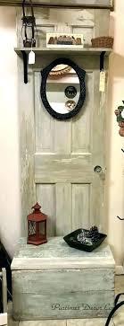 storage hall tree door hall tree antique door bench storage hall tree vine door old door
