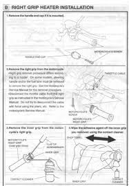 genuine honda heated grips here are the scans of the complete instructions sorry it s so long