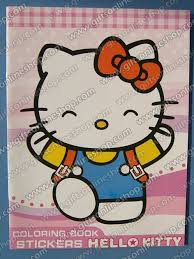 28 21cm o kitty cartoon kids coloring book with stickers drawing book children gift hundreds
