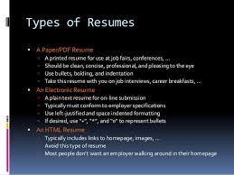 4 types of resumes