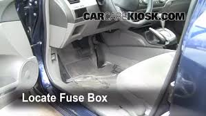 interior fuse box location honda civic honda interior fuse box location 2006 2011 honda civic