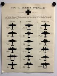 1942 Wwii Warplane Identification Chart German And By