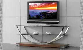 tvr modern glass tv stand by at home usa https