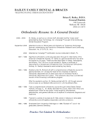 Orthodontist Resumes Templates Memberpro Co Resume Objective