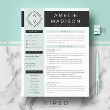 Template Resume Templates Hired Design Studio Jennifer Professional
