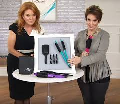 tv qvc. promotion: duchess sarah ferguson (left) has been promoting hair straighteners on us shopping channel qvc tv qvc