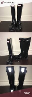 hunter boots size 6 black hunter boot size 6 womens 4 kids sorry other listing was