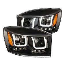 Halo Lights For 2006 Dodge Ram Anzo 2006 2008 Dodge Ram 1500 Projector Headlights W U Bar Black
