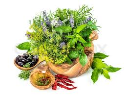 Image result for Basket of Herb Flowers and Spice Leaves