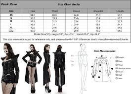 Punk Rave Size Chart Punk Rave Womens Gothic Steampunk Choker Zip Up Pu Leather