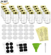 Decorative Spice Jars Rebate Key Nellam French Round Glass Spice Jars Set of 100 with 68