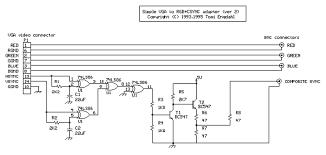 scart to vga converter circuit diagram images to vga converter scart rgb wiring diagram nodasystech com to vga circuit