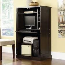 Small computer armoire Small Desk Image Is Loading Computerarmoiredeskhutchworkstationdencabinetsmall Ebay Computer Armoire Desk Hutch Workstation Den Cabinet Small Home