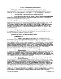 Mutual Confidentiality Agreement Printable Mutual non disclosure agreement Fill Out Download Top 96
