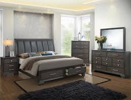 B6580 5 pc Jaymes collection grey finish wood bedroom set with ...