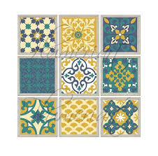 patchwork moroccan style wall art