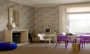Purple Decor For Living Room Purple Living Rooms Dark Purple Accent Wall Accentuates This