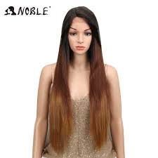 "<b>Noble Hair</b> 20""Inch Straight Synthetic <b>Lace Front</b> Wig Glueless Heat ..."