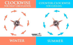which way should a ceiling fan go in the summer fan spin winter what direction should