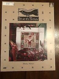 Merry Merry Birds Of A Feather Santa Cross Stitch Chart
