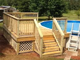 Wood Pool Deck 12x16 Deck On Round Pool My Projects Pinterest Decking
